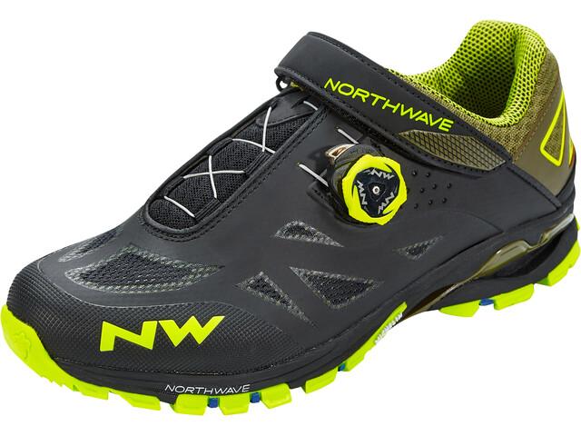Northwave Spider Plus 2 Zapatillas Hombre, black/yellow fluo